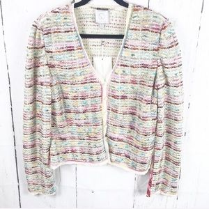St. John Couture Tweed Cardigan size 8